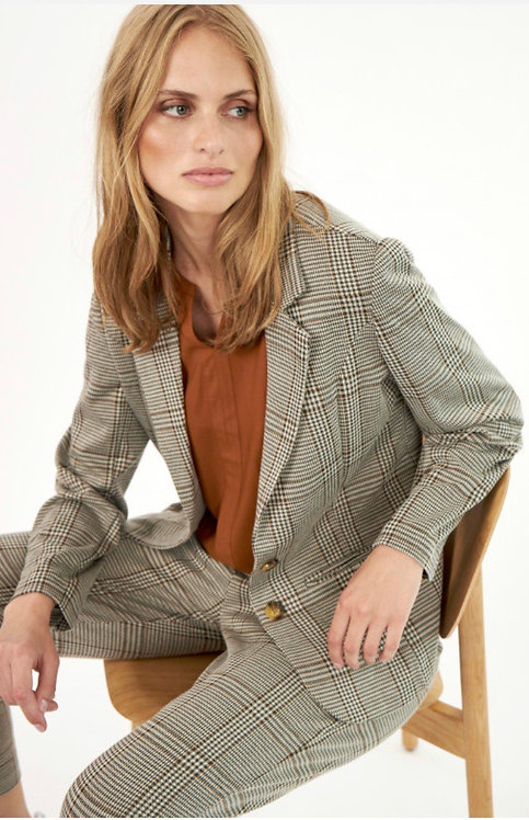 Soya Plaid Blazer