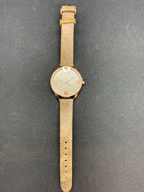 Taupe/Rose Gold Watch