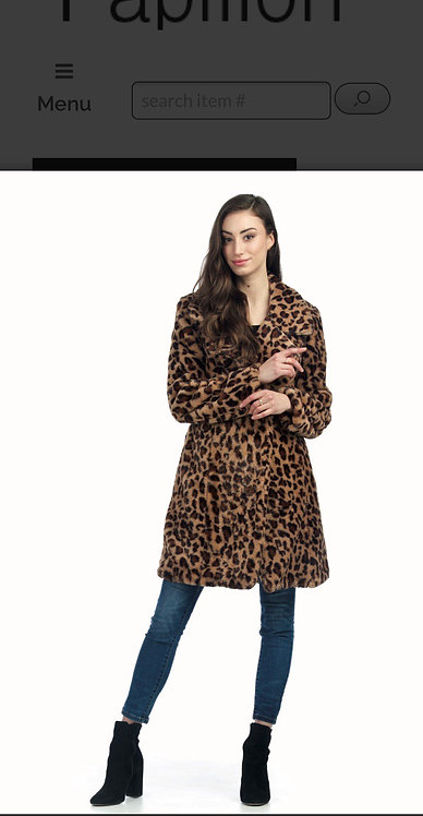 Papillon Faux Fur Cheetah Coat