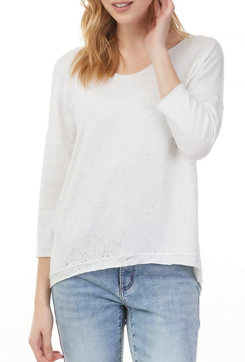 Charlie B Sparkling Knit Blouse