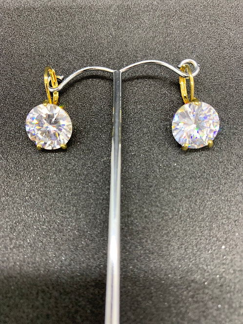 Swarovski Earrings Gold/Clear Small