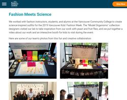 Kobor Lab Outreach : Fashion Meets Science