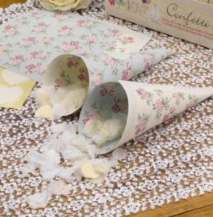 'With Love' Confetti Cones