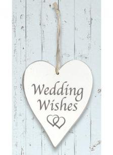 'Wedding Wishes' Wooden Heart
