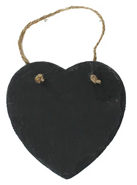 Heart Shaped Slate Message Board