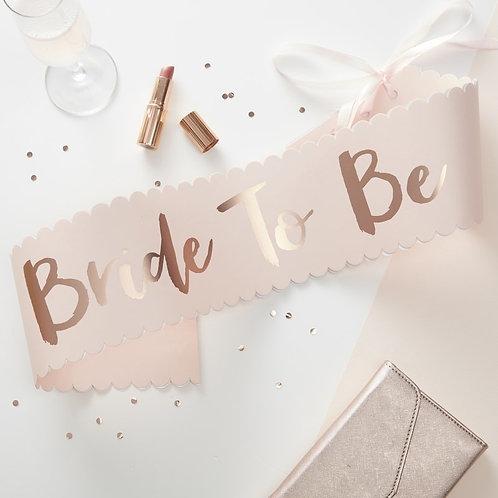 'Team Bride' Sashes