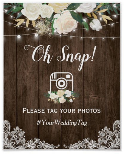 'Oh Snap' Instagram Sign
