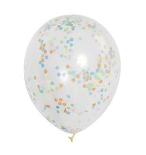 Clear/Multicoloured Confetti Balloons