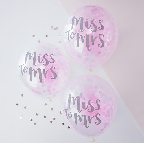 'Team Bride' Miss to Mrs Balloons