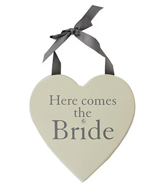 Here Comes The Bride Hanging Plaque