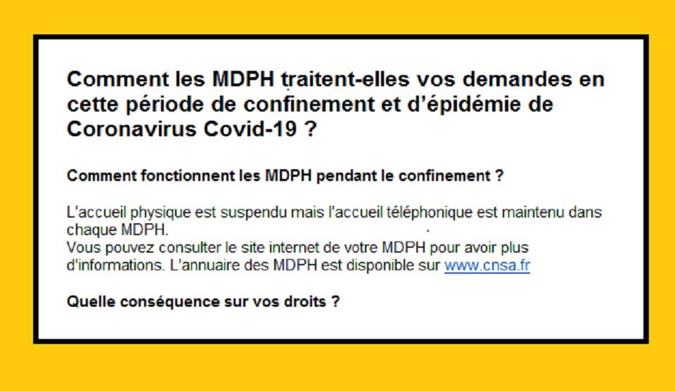Comment les MDPH traitent-elles vos demandes en cette période de confinement