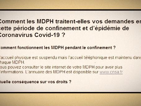 Comment fonctionnent les MDPH pendant le confinement ?