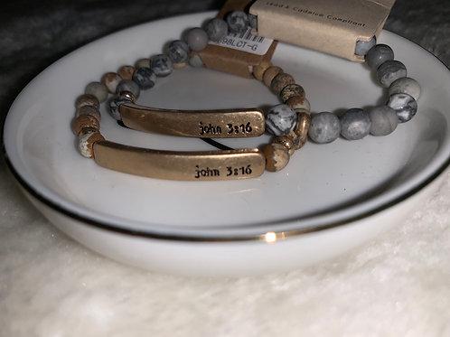 John 3:16 Beaded Bracelets
