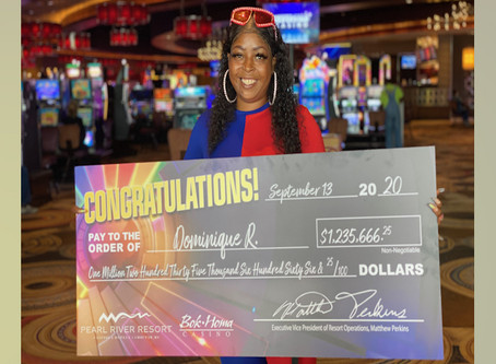 Mississippi woman wins million dollar jackpot at Golden Moon Casino