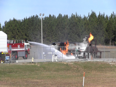 Aircraft mishap exercise conducted at NAS Meridian