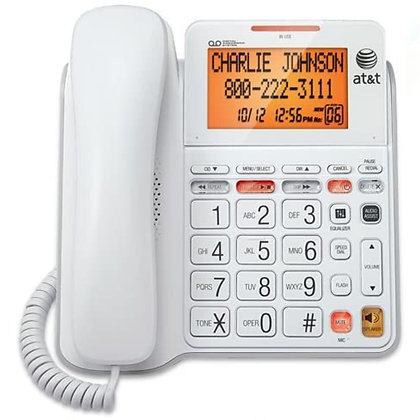 AT&T CL4940 Corded Standard Phone with Answering System and Backlit Display