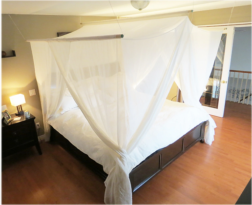 Bed Canopy Swiss Shield Naturell