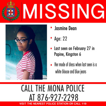 Persons Of Interest Charged In Case Of Missing UWI Student Jasmine Dean