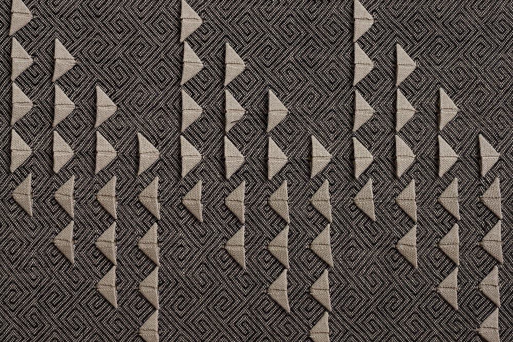 Black twill Origami Weaving by Susie Taylor