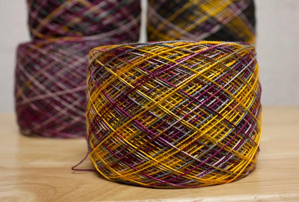 ball of hand dyed yarn