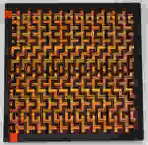 Double weave 4 block, fall colors