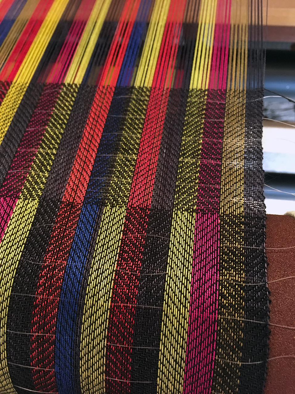 with ties on loom