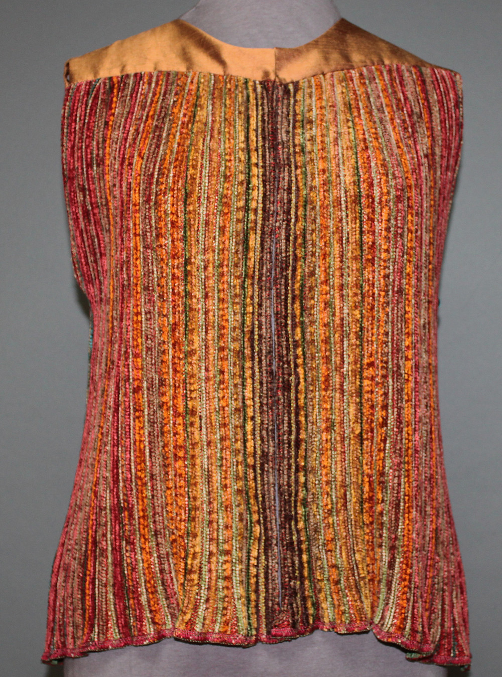 pleated vest by Teena Tuenge
