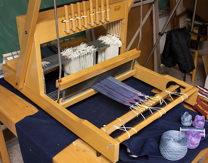table loom warped and ready