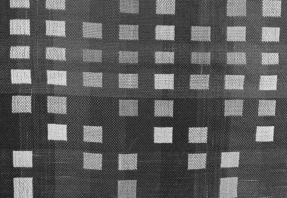 Black and white version of colored square weaving