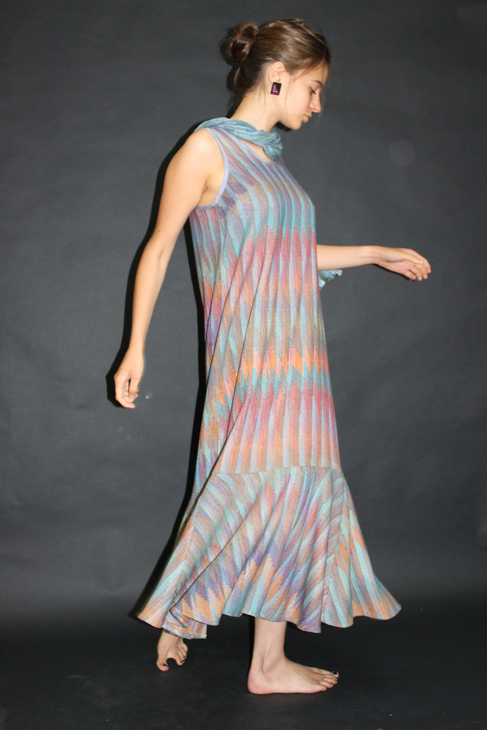 Dress woven by Teena Tuenge
