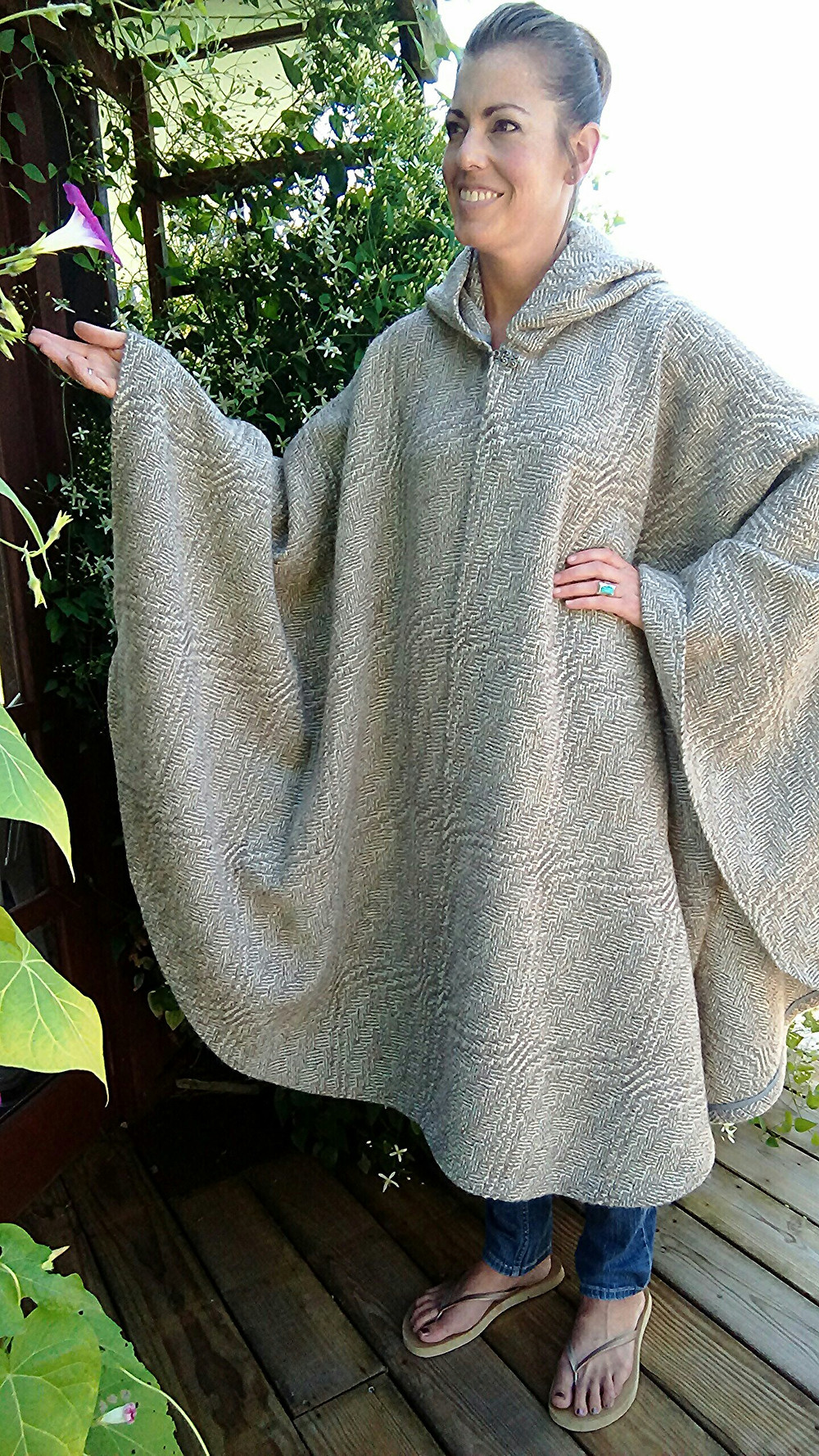 Wool cape by Peggy Siders