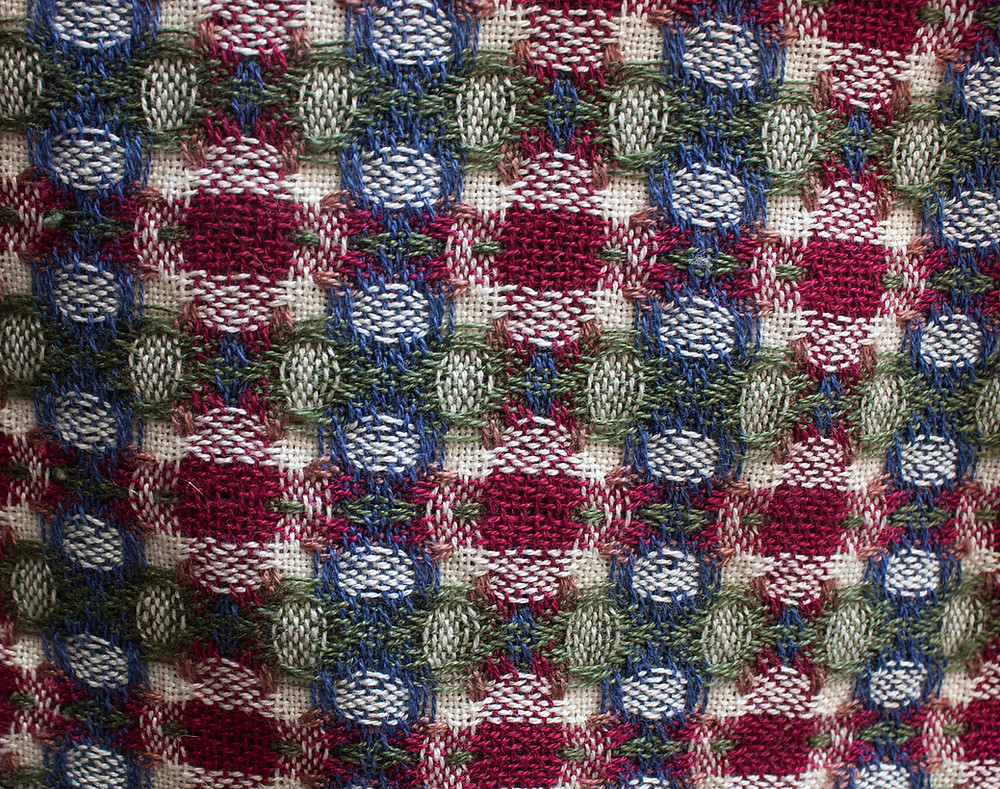 Deflected double weave, side A