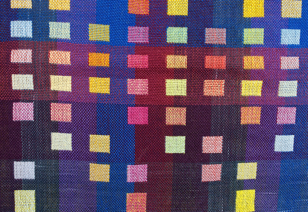 Weaving of colored squares