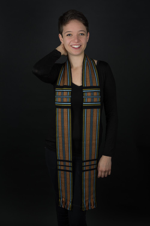 Unity Temple Choir stole woven by Suzanne Halvorson