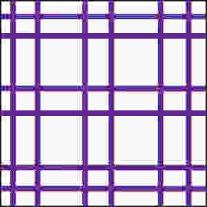 Graphic of square with 6 horizontal and 6 vertical lines, grouped in twos.