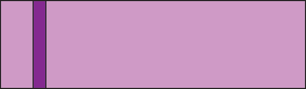 Graphic of lavender rectangle with 1 purple stripe.