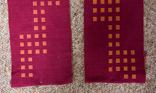 Bottom edges of the stole