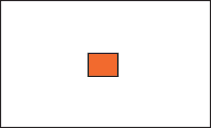 Graphic if a rectangle with a small orange rectangle in the center.