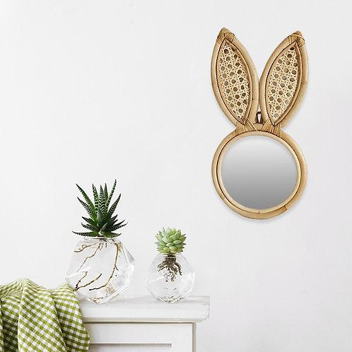 Rattan Bunny Ears  Mirror