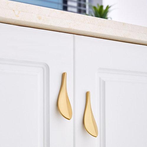 Copper Leaf Door Handle