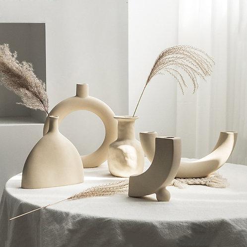Clean Lines Porcelain  Art Vase