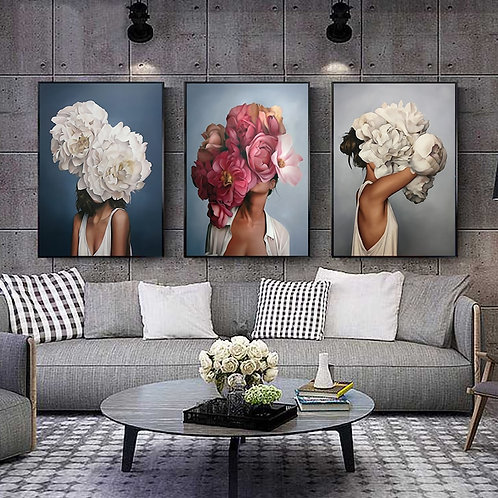 Woman Abstract Canvas Painting
