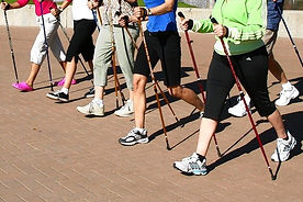 yoga for your knots-Nordic pole walking.