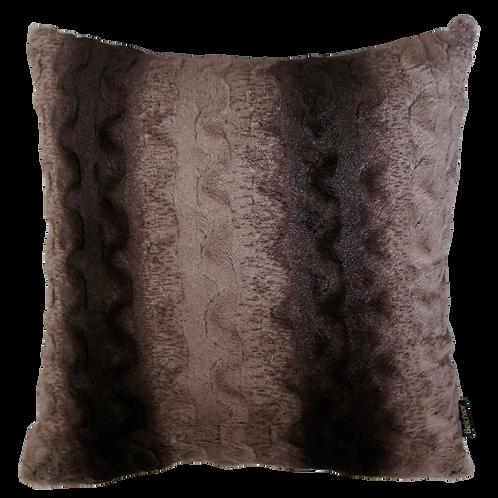 Capa de almofada - Pelúcia Marrom