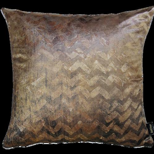 Capa de almofada - Chevron Gold
