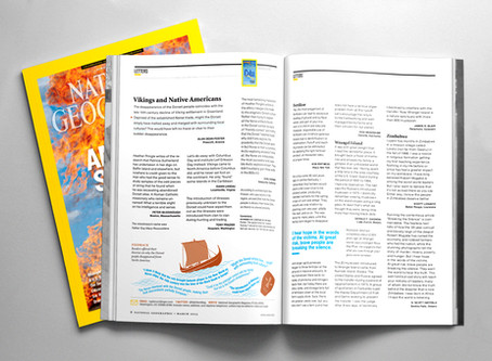 Everyone loves Vikings, letters to National Geographic