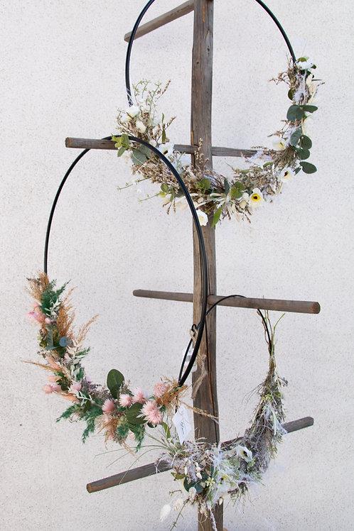 Trockenblumen Wandkranz