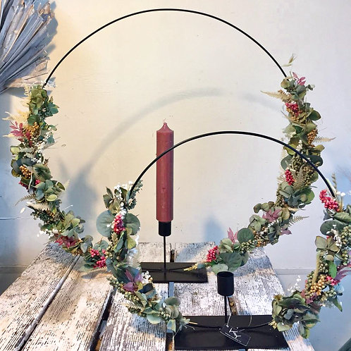 Trockenblumen Kerzenhalter 30 cm