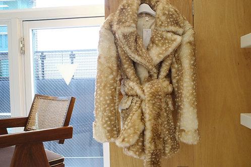 sika deer fur coat