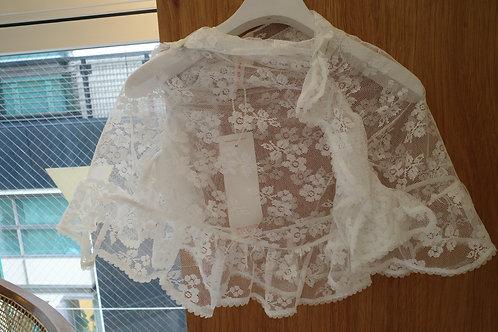 ruched lace cape